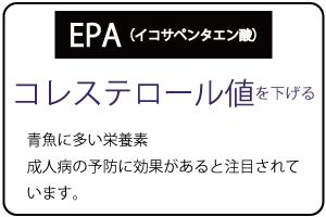 EPAでコレステロール値を下げる